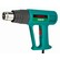 51G519 - HŐLÉGFÚVÓ VERTO 51G519 2000 W 5 db tartozékkal  - A VERTO 2000 W-os, tartozékok készlettel szállított hőlégfúvó (kat. sz. ref.51G519) egy 2000 W teljesítményű elektromos kéziszerszám festék- és lakkbevonatok eltávolításához, valamint hőre lágyuló anyagok alakításához és hegesztéséhez. Felhasználásra talál bútorelemek fóliázásában is. Két hőmérséklet-beállítás kapcsolható be – 350 °C és 550 °C -, valamint 2 légáram beállítás, így az üzemi paraméterek hozzáigazíthatók az elvégzendő feladat igényeihez. A szerszámot a károsodások ellen védő bimetál túlmelegedés elleni védelemmel van felszerelve. A szett a fúvókával és a kaparóval praktikus hordtáskába van csomagolva. A CE tanúsítvány igazolja az európai biztonsági normáknak való megfelelést. A VERTO márka ajánlata elektromos kéziszerszámokat és tartozékokat tartalmaz az ezermesterek számára.